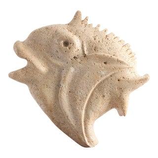 Travertine Moonfish Sculpture For Sale