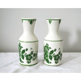 1970s Shabby Chic Delft Green Carafes - a Pair Preview