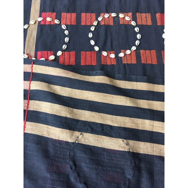 Vintage African Cowrie Shell Throw Blanket - Image 5 of 5