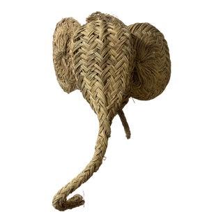 Spanish Straw Elephant Head For Sale