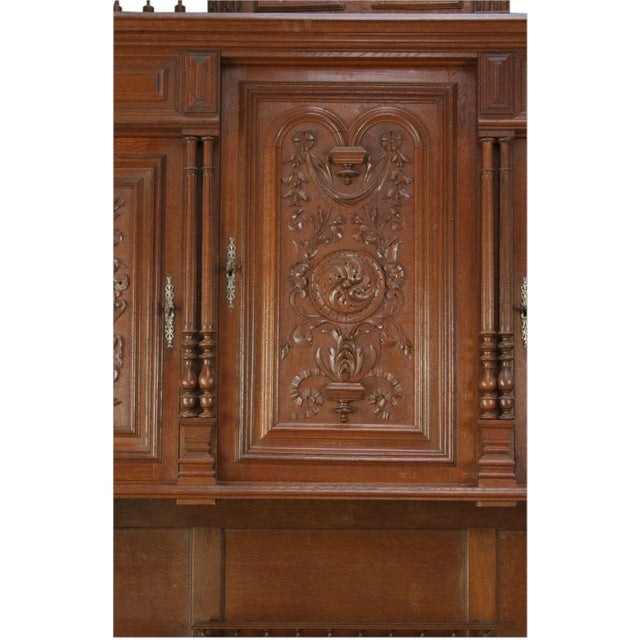 Antique French Renaissance Carved Buffet Server For Sale In Columbia, SC - Image 6 of 8