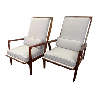 Danish Mid Century Modern Rosewood Lounge Chairs- a Pair For Sale
