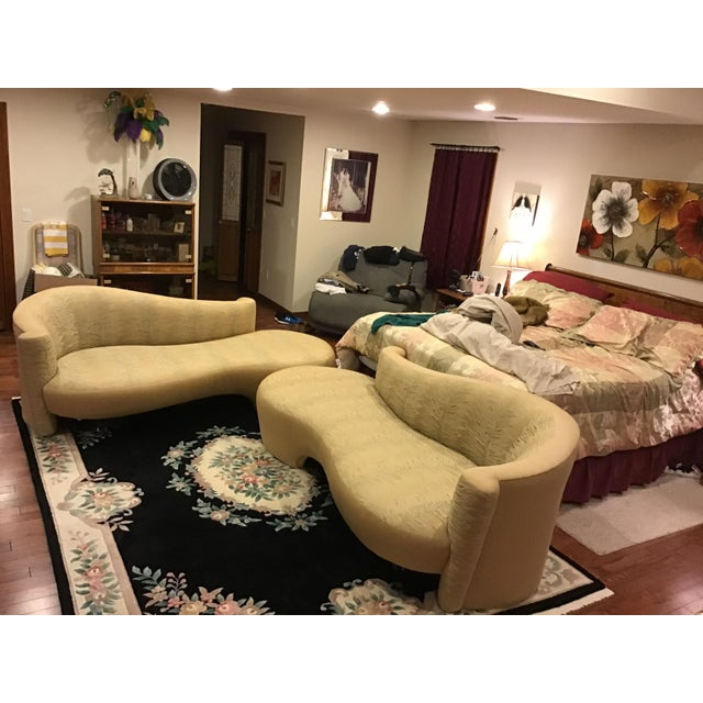 Weiman Golden Upholstered Sofas - A Pair For Sale - Image 10 of 11