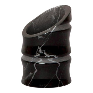 Black Marquina Marble Vase by Michele Chiossi For Sale