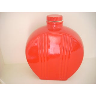 Hall Pottery Vintage Chinese Red Water Bottle Preview