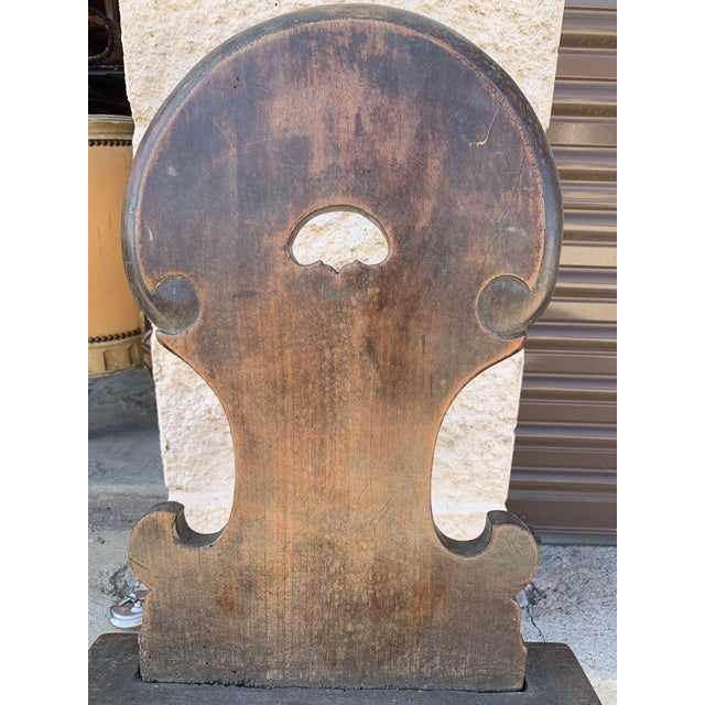 Brown 18th Century Bavarian Wooden Chair For Sale - Image 8 of 13