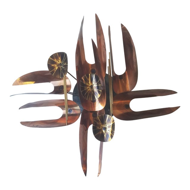Mid 20th Century Unmarked Curtis Jere Wall Sculpture For Sale