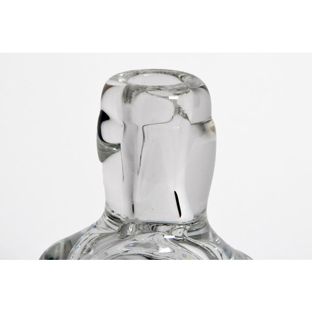 Hand-Blown Glass Imprints of Indian Print Block Vase For Sale - Image 4 of 11