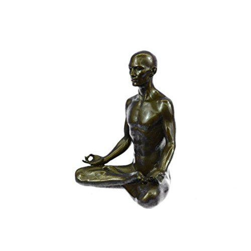 Art Deco Yoga Sport Edition Bronze Sculpture on Marble Base Figurine For Sale - Image 3 of 9