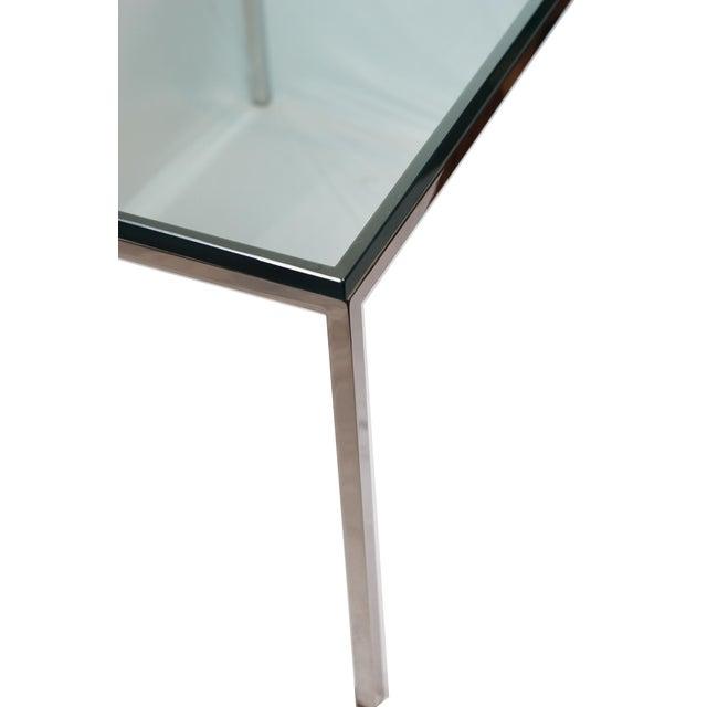 Mid-century Brueton Stainless Steel Side Table - Image 4 of 5