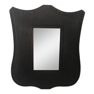 Mirror With Hand Tooled Frame For Sale