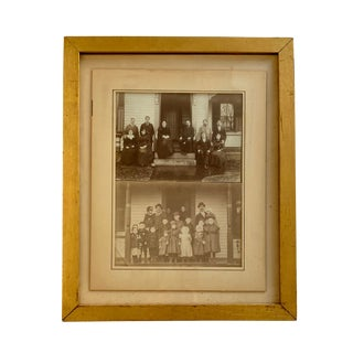 Early 20th Century Antique Framed Family Portrait Photographs For Sale