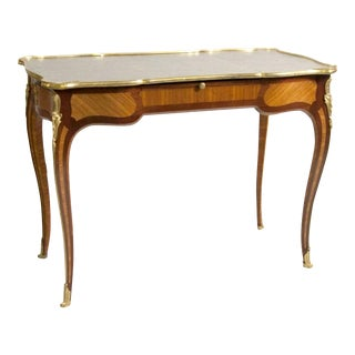 Ormolu-Mounted Louis XV Style Desk Stamped Beurdelay For Sale
