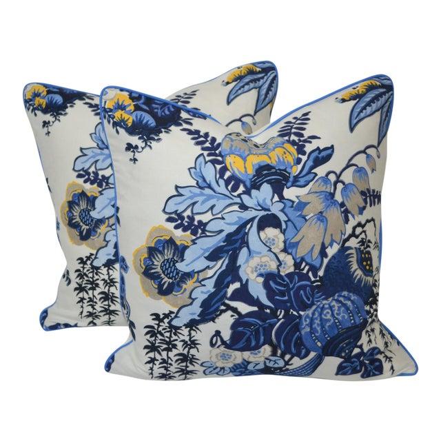 Anna French Fairbanks Fabric Pillows - a Pair For Sale