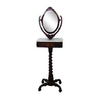 Rare Victorian Shaving Mirror For Sale