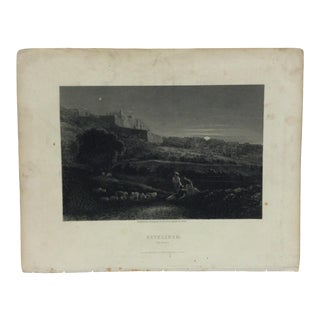 "Antique Original Engraving on Paper ""Bethlehem - by Night"" by Frith Circa 1890 For Sale"