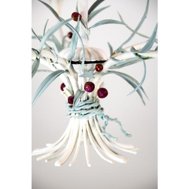 Italian Tole Chandelier For Sale - Image 4 of 9