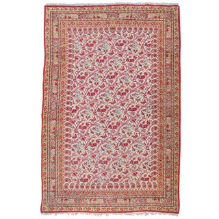 Yazd Persian Floral Rug - 3′10″ × 5′7″ For Sale