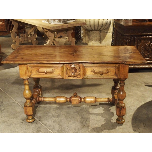 French 17th Century Basque Country Writing Table With Inset Star For Sale - Image 3 of 13
