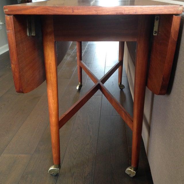 1960 Drexel Declaration Kipp Steward McDougell Drop-Leaf Dining Table For Sale In Charleston - Image 6 of 11