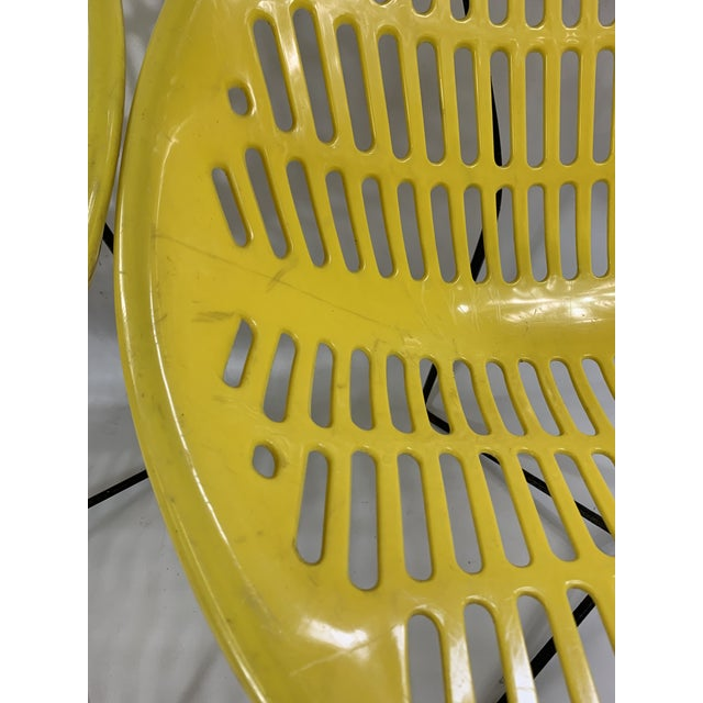 1960s Mid Century Howard Johnson Hotel Yellow Solar Lounge Chairs - a Pair For Sale - Image 5 of 11