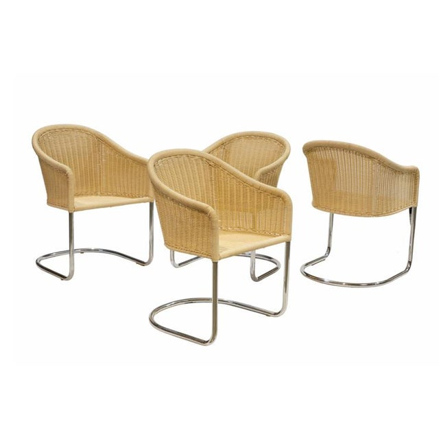 Harvey Probber Style Cantilever Chairs - Set of 4 For Sale - Image 4 of 4