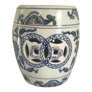 Chinese Garden Stool Candle Holder For Sale