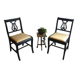 Vintage Mid Century Duncan Phyfe Style Chairs- a Pair For Sale