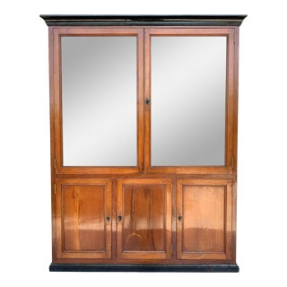 French Provincial Plantation Style Walnut Vitrine, Bookcase, 19th Century For Sale