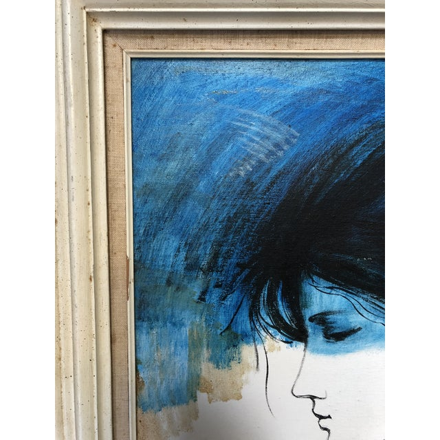 1970s Vintage Kevin McAlpin Ladies in Blue Oil Painting For Sale In Miami - Image 6 of 8