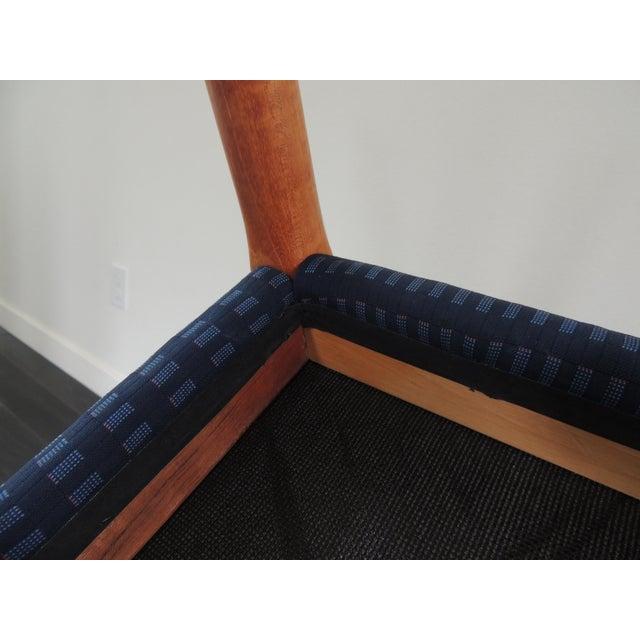Blue 1970's Vintage J.L. Møllers Møbelfabrik Danish Modern Blue Bench For Sale - Image 8 of 11