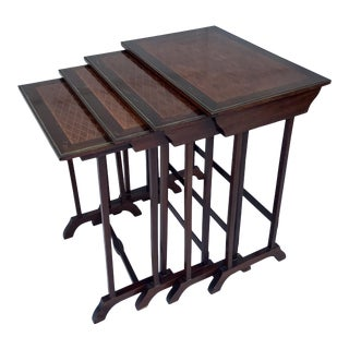 18th Century French Marquetry Nesting Tables - Set of 4 For Sale