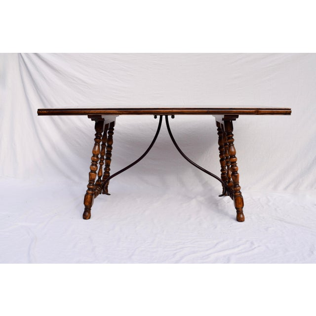 Spanish Colonial Style Dining Table by ABC Carpet & Home Center For Sale - Image 9 of 9