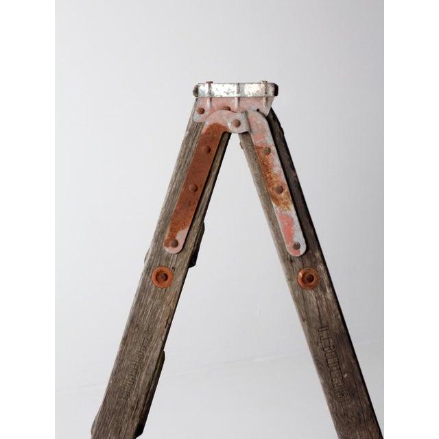 Vintage Wooden Folding Ladder For Sale - Image 6 of 11