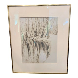 "1910 ""Winter Stream"" Platinum Print Photograph For Sale"