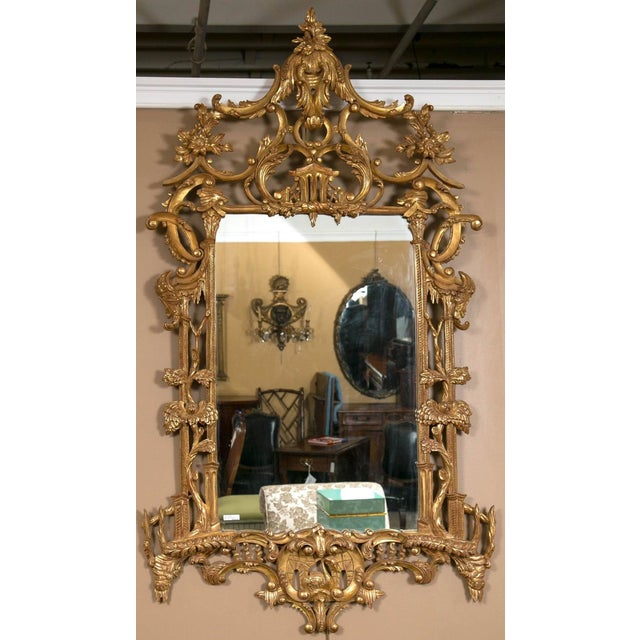 Italian Gilt Chinese Chippendale Mirrors - Pair - Image 2 of 7
