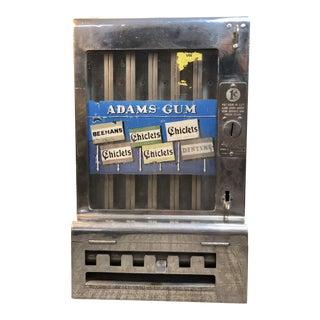 1930s Vintage Adams Gum Machine For Sale