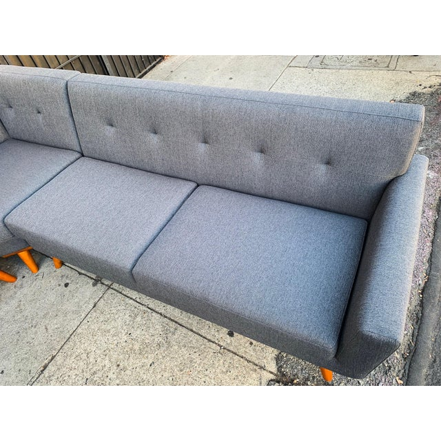 Modern West Dark Grey Sectional Sofa