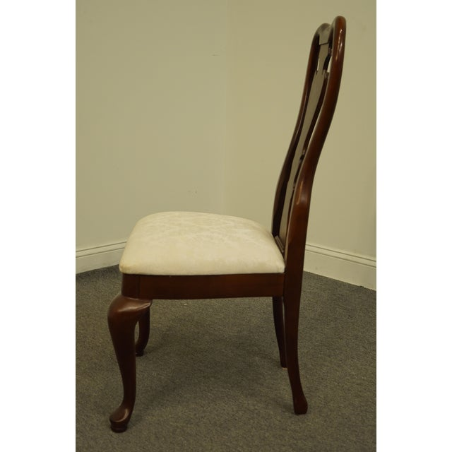 Late 20th Century Thomasville Furniture Collectors Cherry Collection Dining Side Chair For Sale In Kansas City - Image 6 of 11