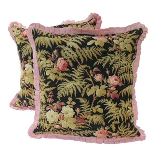 19th C. French Fabric Pillows - A Pair For Sale
