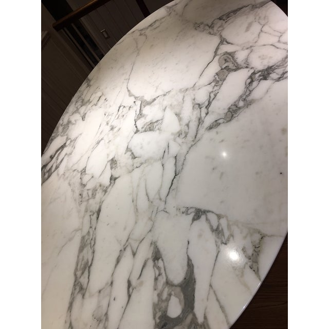 Knoll Carrera Marble Dining Table - Image 3 of 7