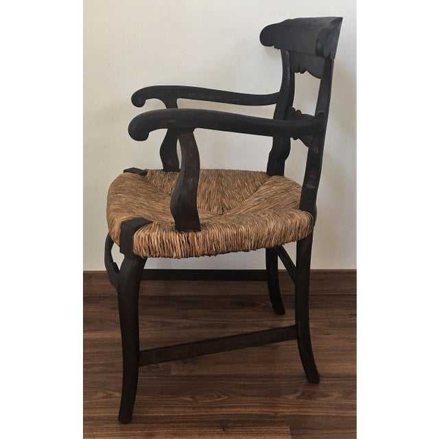 19th Century Set of Four Armchairs with Straw Seat For Sale - Image 4 of 11