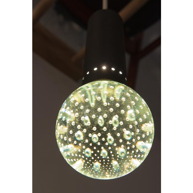 Abstract Murano Glass Bubble Pendant by Gino Sarfatti and Archimede Seguso for Lightolier For Sale - Image 3 of 12