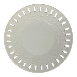 European Creamware Reticulated Plate For Sale