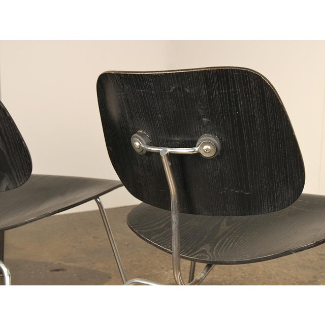 1950s 1950s Black LCM by Charles and Ray Eames for Herman Miller - a pair For Sale - Image 5 of 8