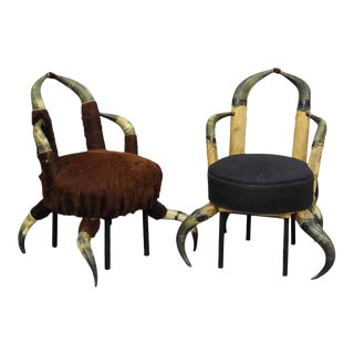 A Pair Small Antique Horn Chairs, Austria Ca. 1870 For Sale