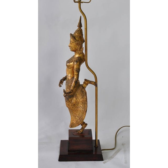 Gold Collection of Vintage Thai Figure Lamps For Sale - Image 8 of 10