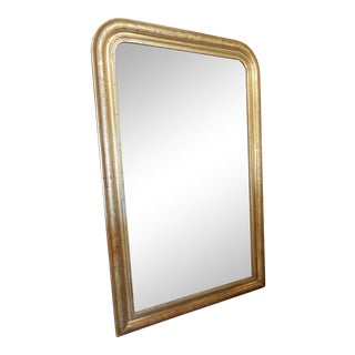 19th C Louis Philippe Gold Gilt French Mirror For Sale