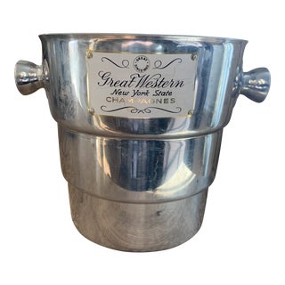 Vintage Great Western Classic Aluminum Champagne Wine Cooler For Sale