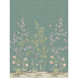 Image of Chinoiserie Garden, Antiqued Jade Wallpaper For Sale